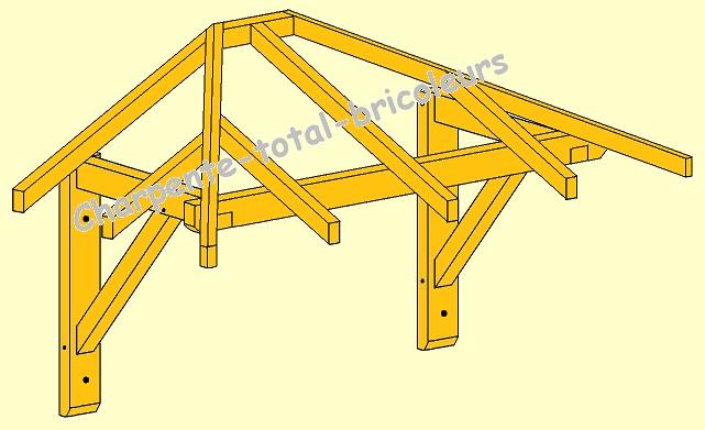 comment construire une marquise en bois