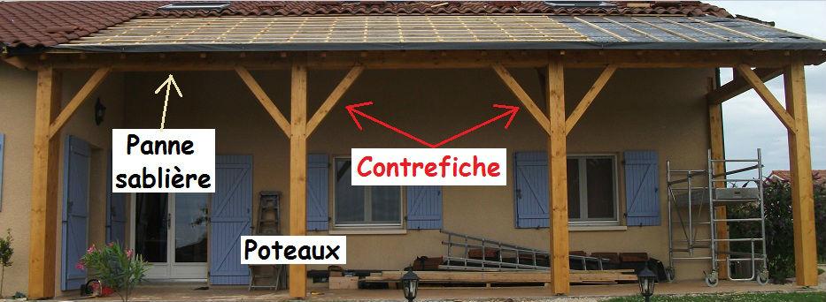Favori Auvent polycarbonate [Résolu] - Charpente, toiture, combles UC37